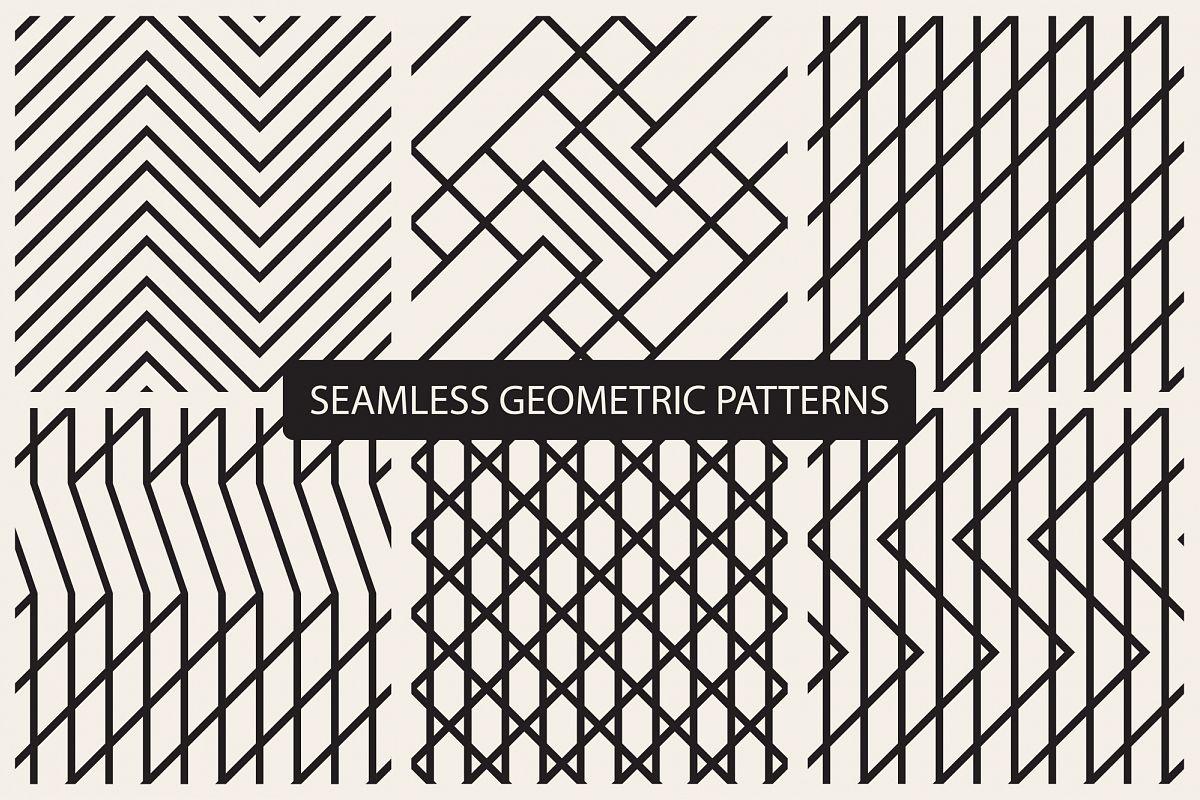 Geometric seamless patterns example image 1