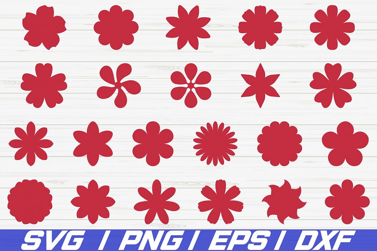 22 Paper Flower Template SVG Cut File / Vector / Clipart example image 1