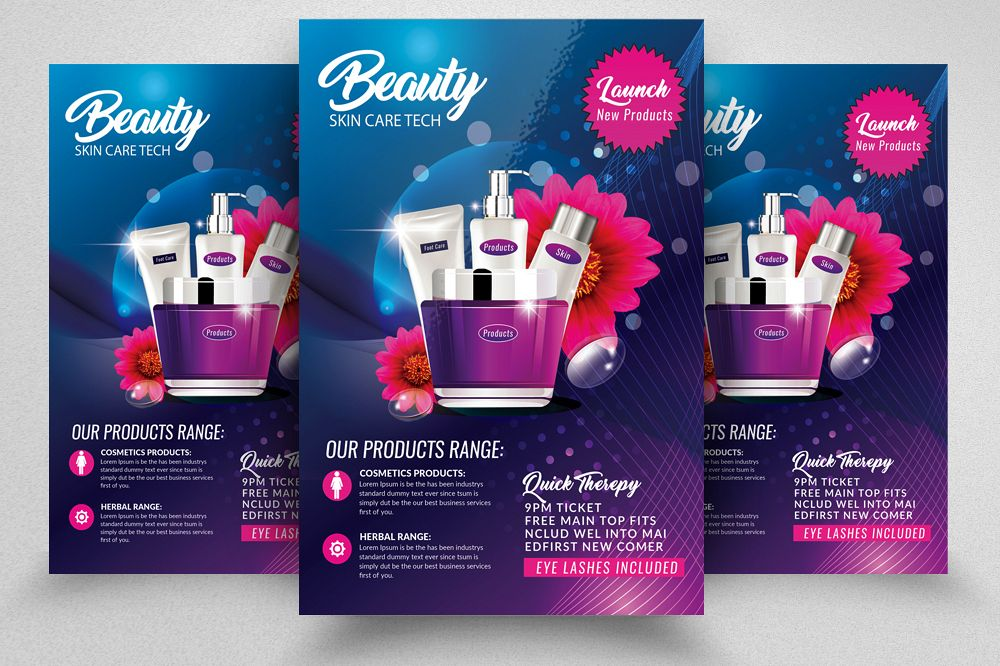 Beauty Skin Care Flyer Template example image 1