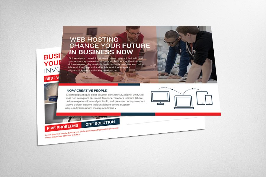 Web Hosting Business Postcard example image 1