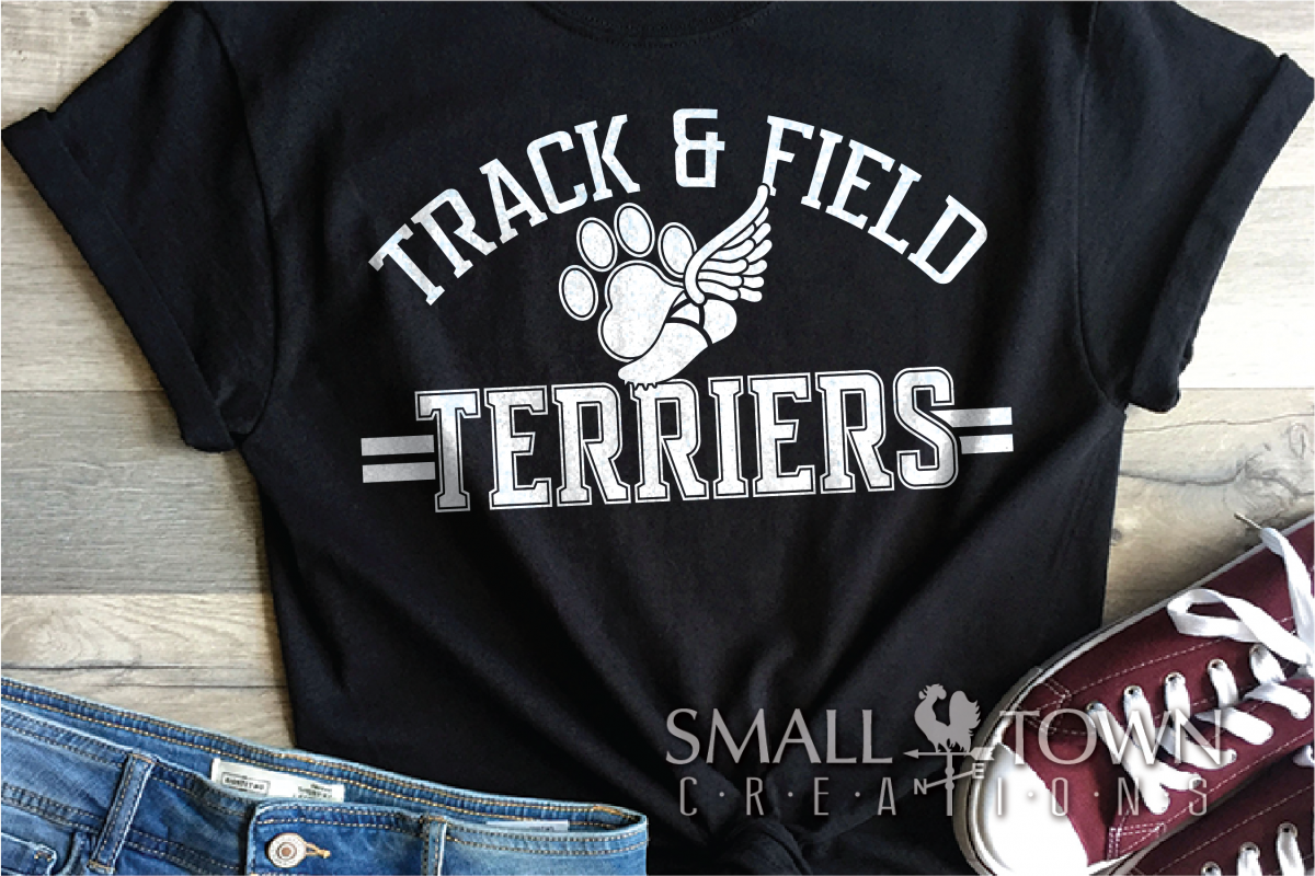 Terrier, Track and Field, Team, Logo, PRINT, CUT, DESIGN example image 1