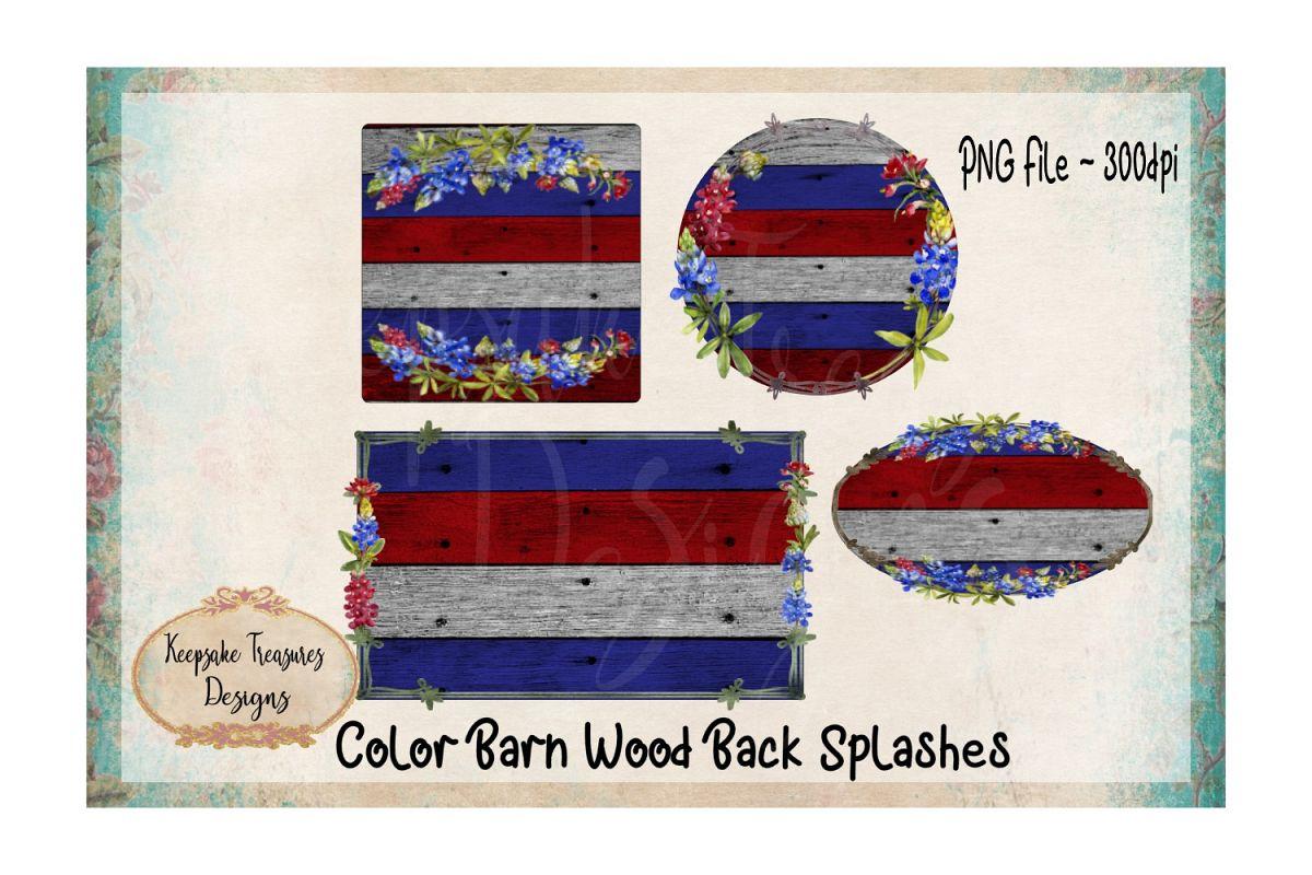 Background Splashes, Color Barn wood, set of 4 example image 1