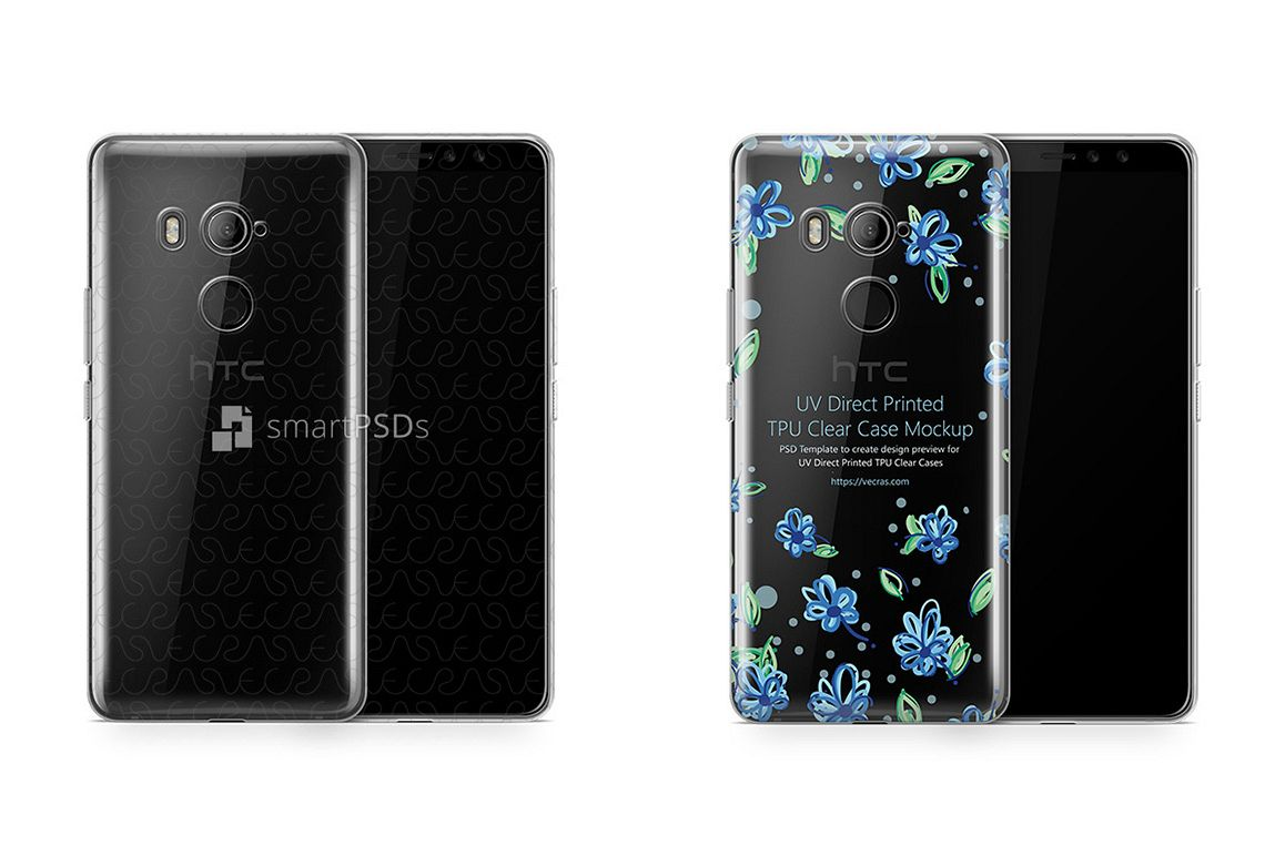 huge selection of 44d2a 73114 HTC U11 EYEs UV TPU Clear Case Design Mockup 2018
