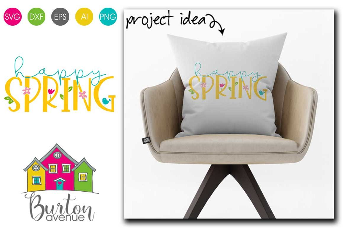 Happy Spring SVG file for Spring example image 1