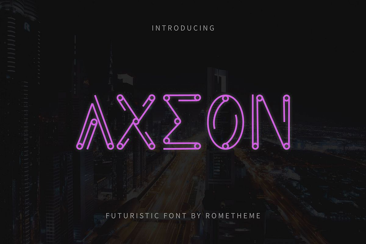 Axeon - Futuristic Typeface example image 1