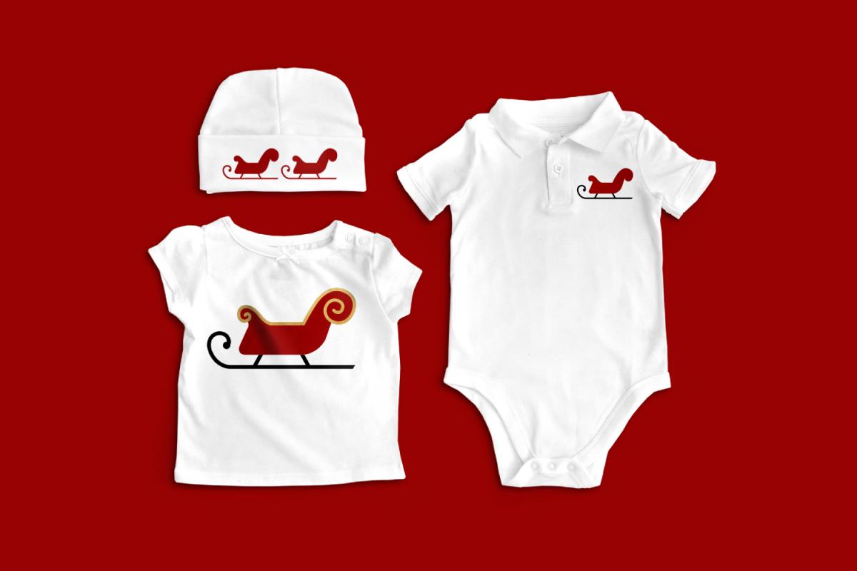 Santa's Sleigh Christmas SVG File example image 1