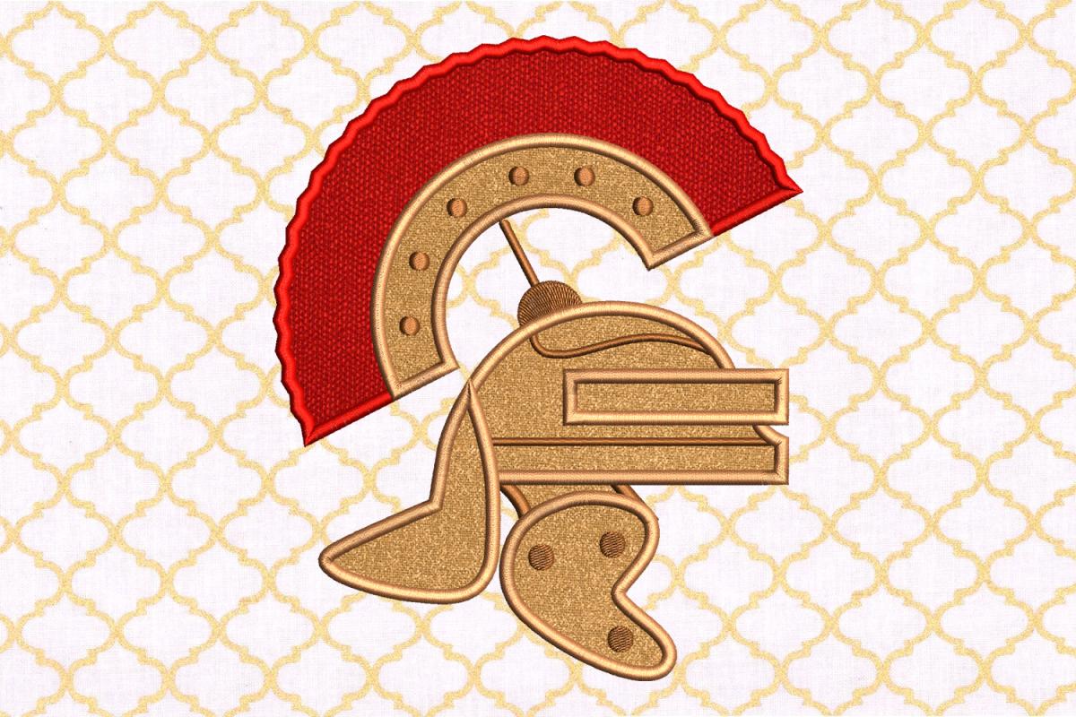 Centurion Helmet Applique Embroidery Design File example image 1