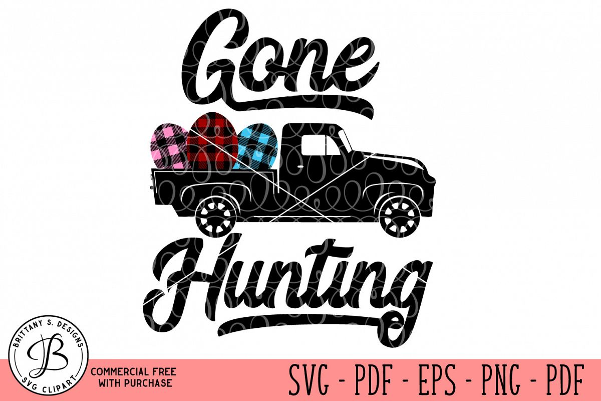 Gone Hunting SVG  example image 1
