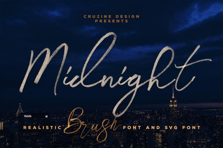 Midnight Brush & SVG Font example image 1