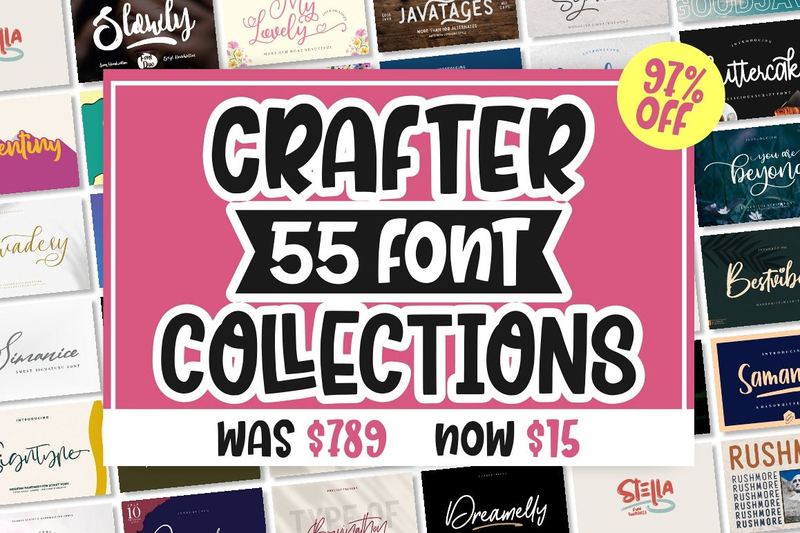 BEST CRAFTER FONT COLLECTIONS example image 1