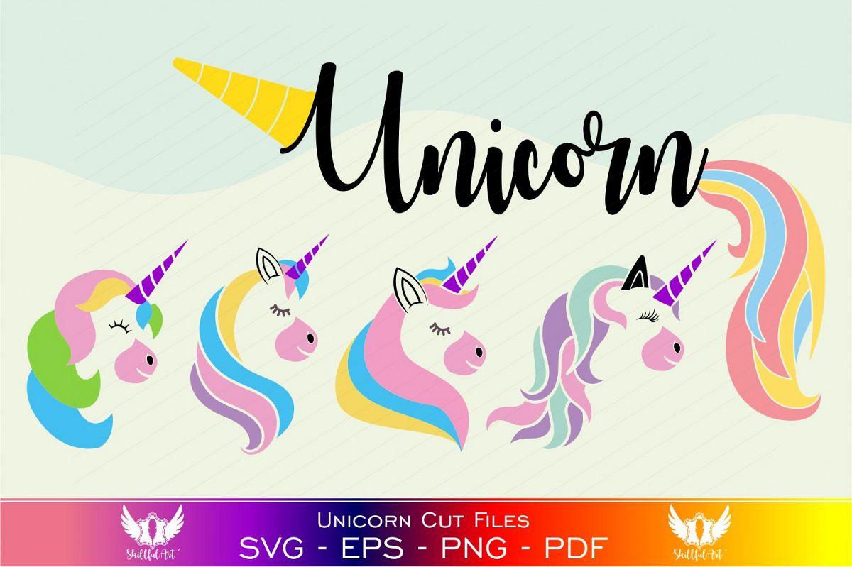 Unicorn svg, unicorn face svg, licorne, unicorn face clipart example image 1