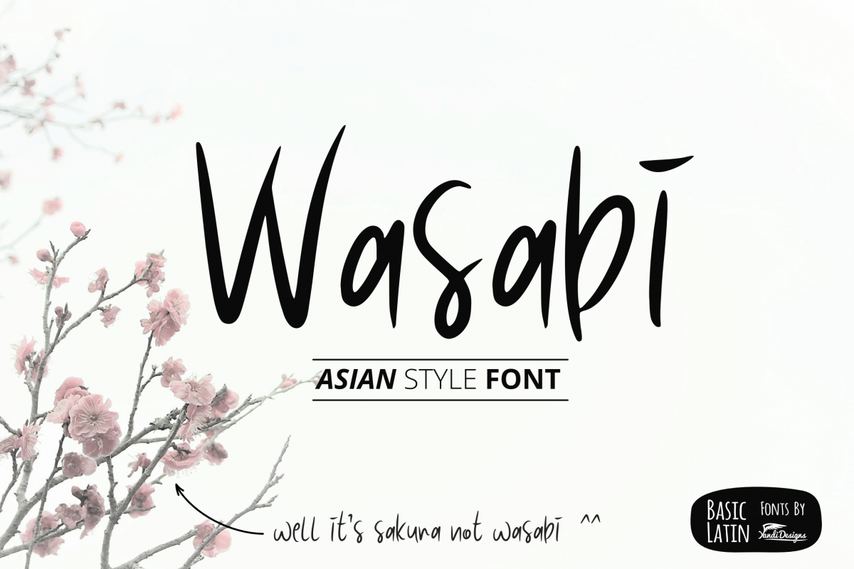 Wasabi Asian Style Fonts example image 1