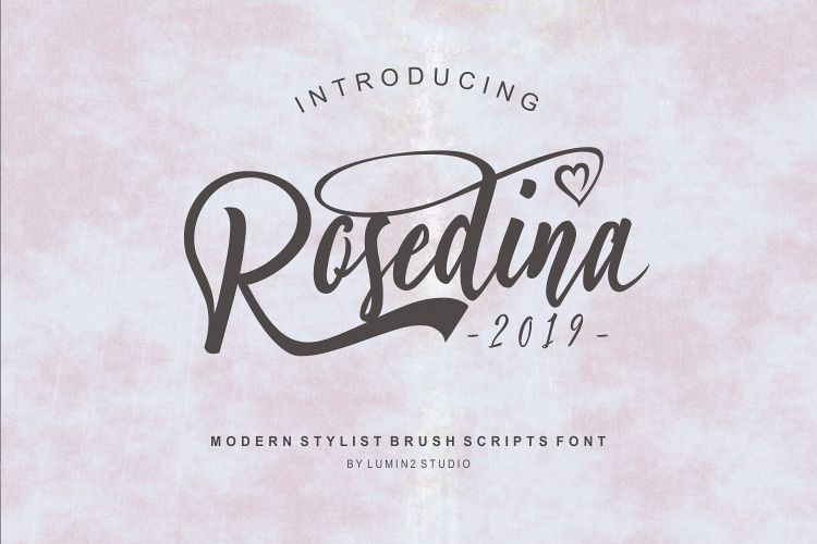 Rosedina - beautyful Stylist brush script example image 1