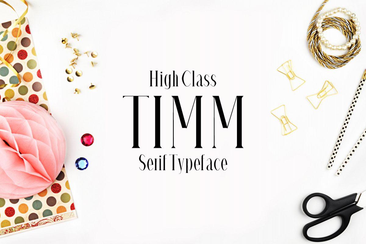 Timm Serif Typeface example image 1
