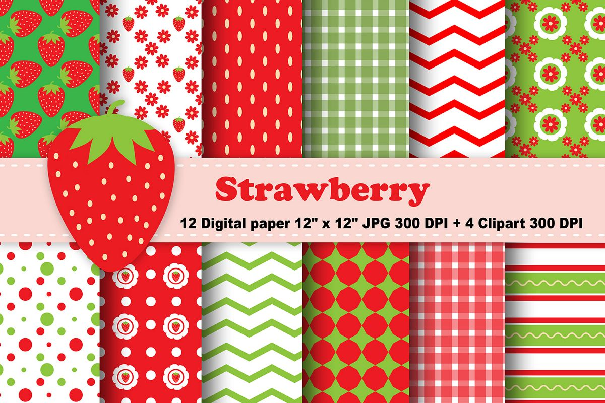 picture about Printable Pattern Paper identify Strawberry Electronic Paper, Culmination Record, Bouquets Habit, End result Printable, Sbook Papers, Electronic Sbooking, Strawberry Clipart.