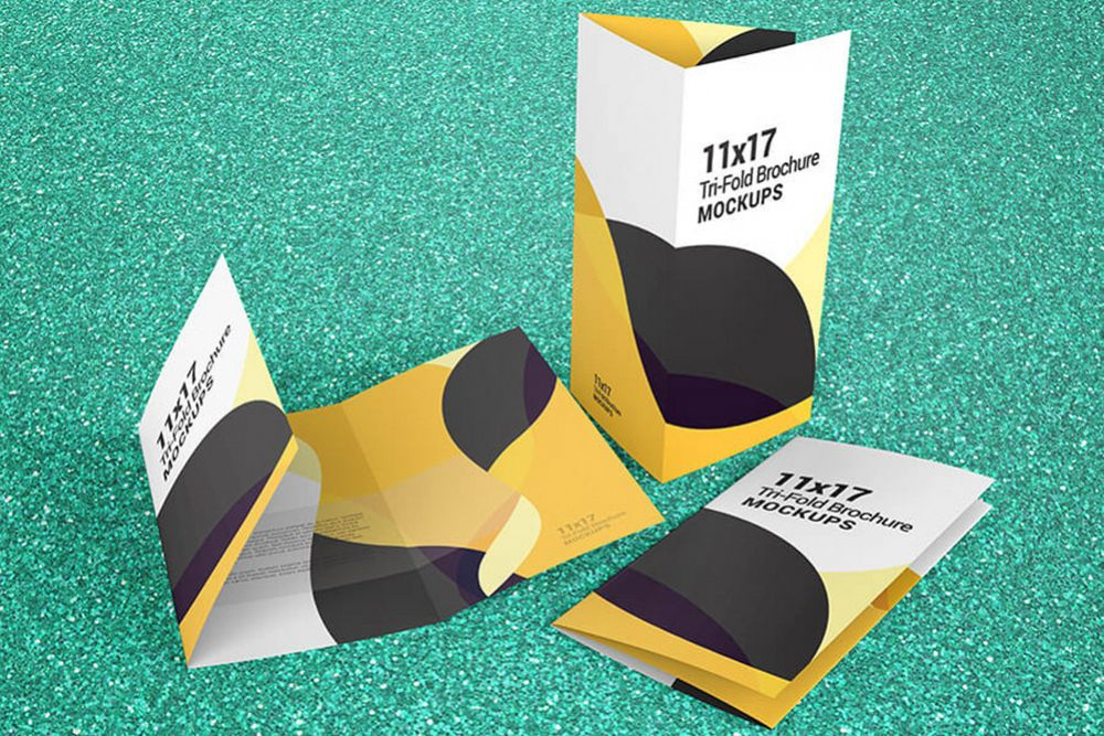 trifold brochure mockups 11 17 size