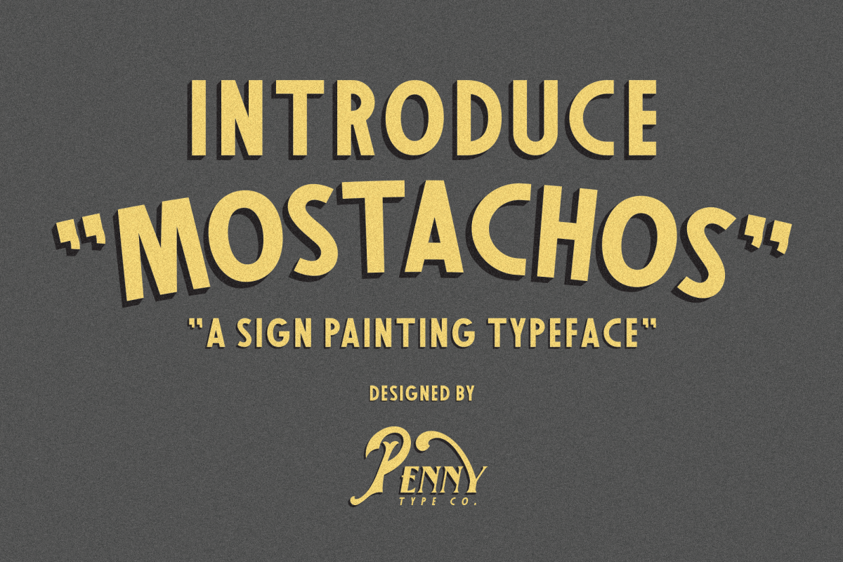 Mostachos Font example image 1