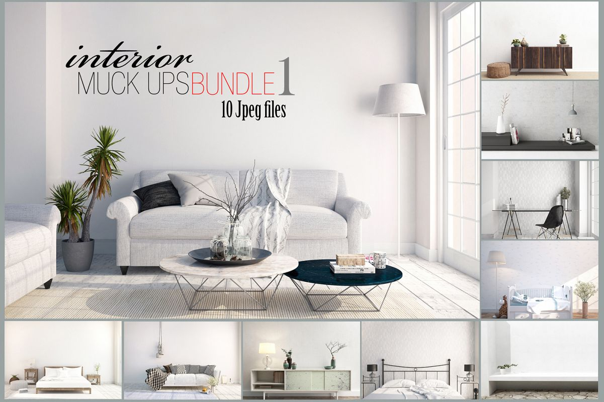 interior mockups bundle, stock photo example image 1