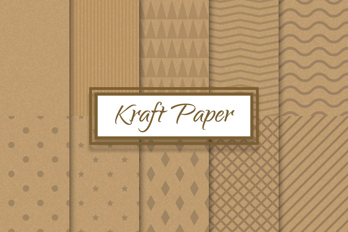 Kraft recycled paper patterns example image 1
