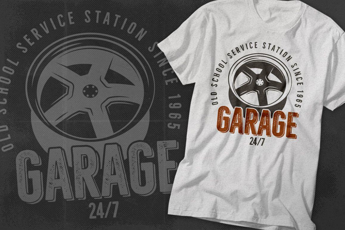 Garage - Car Service Emblem / Retro Logo example image 1