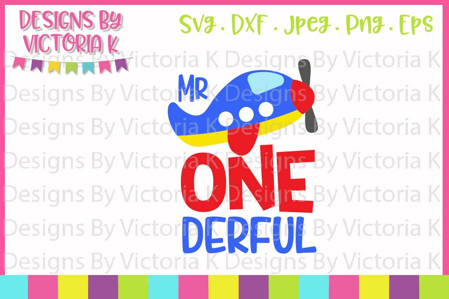 Mr One derful, 1st Birthday, SVG, DXF, PNG example image 1