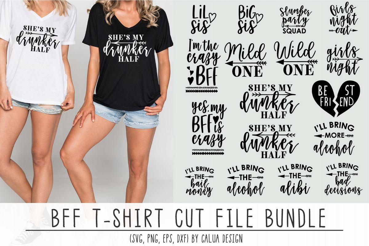 BFF T-shirt Cut File Bundle Free download