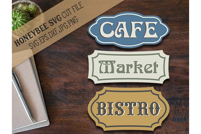 Bistro Cafe Market Bundle svg example image 1