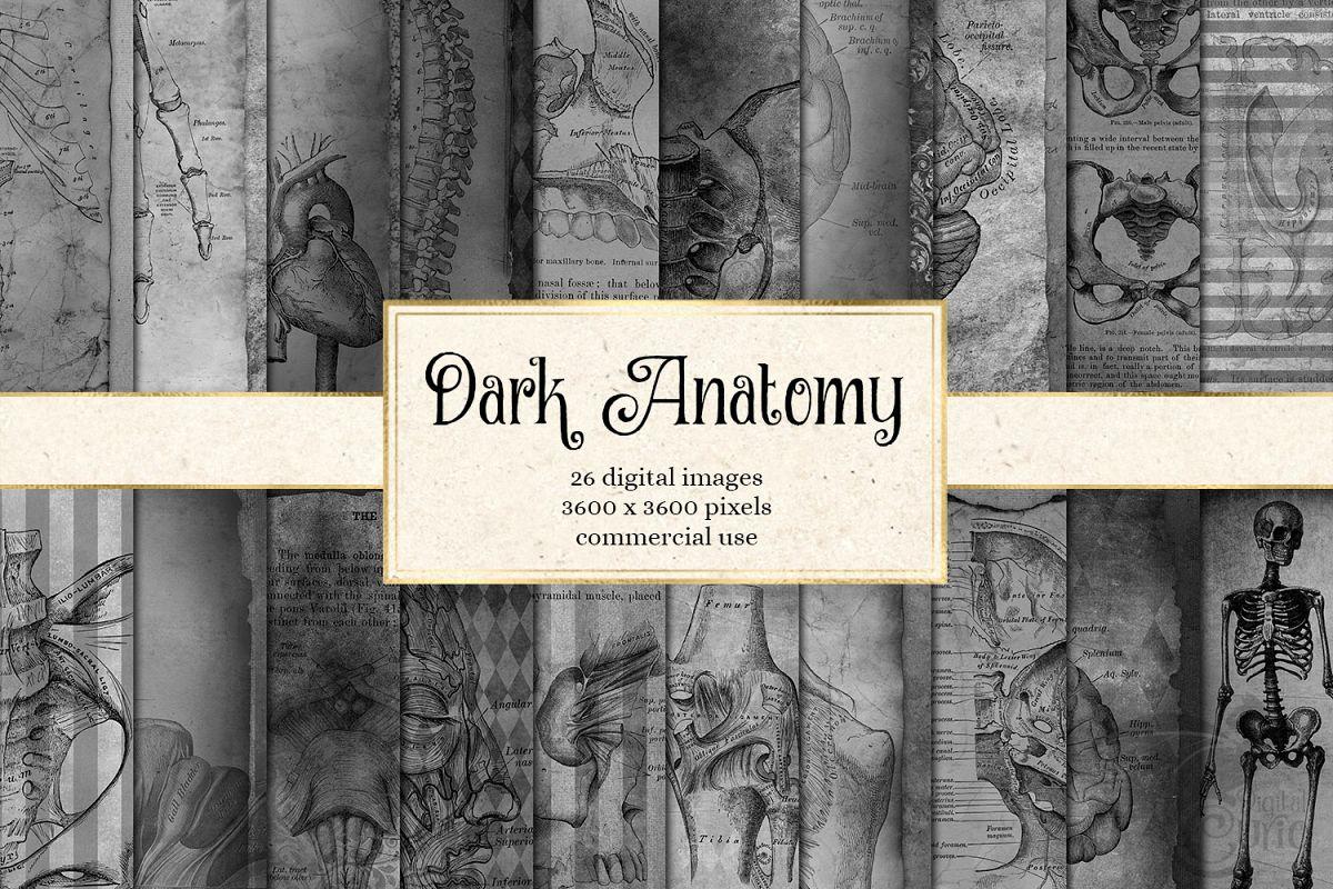 Dark Anatomy Digital Paper example image 1