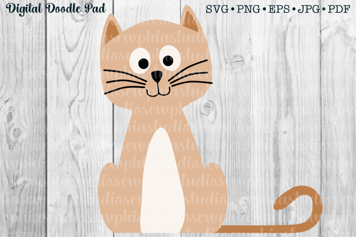 Kitty Cat by Digital Doodle Pad example image 1