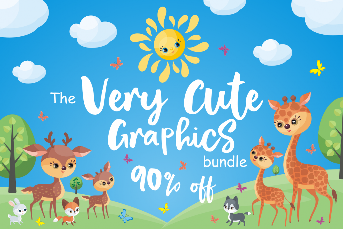 The Very Cute Graphics Bundle example image 1
