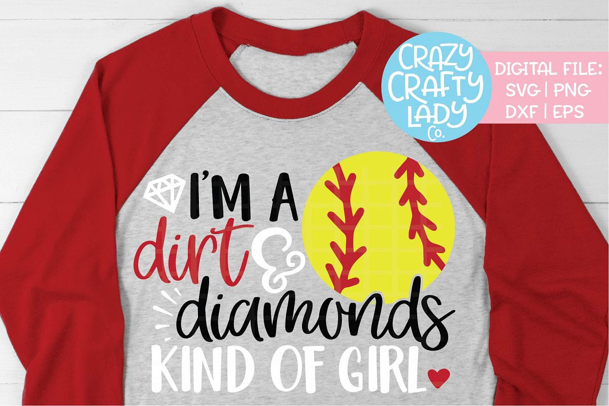I'm a Dirt & Diamonds Kind of Girl SVG DXF EPS PNG Cut File example image 1