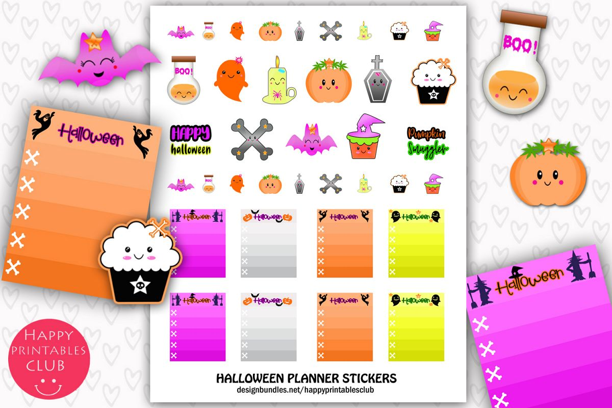 Halloween Planner Stickers- Cute Halloween Planner Stickers example image 1