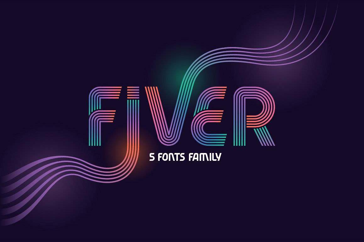 Fiver 5 fonts family example image 1