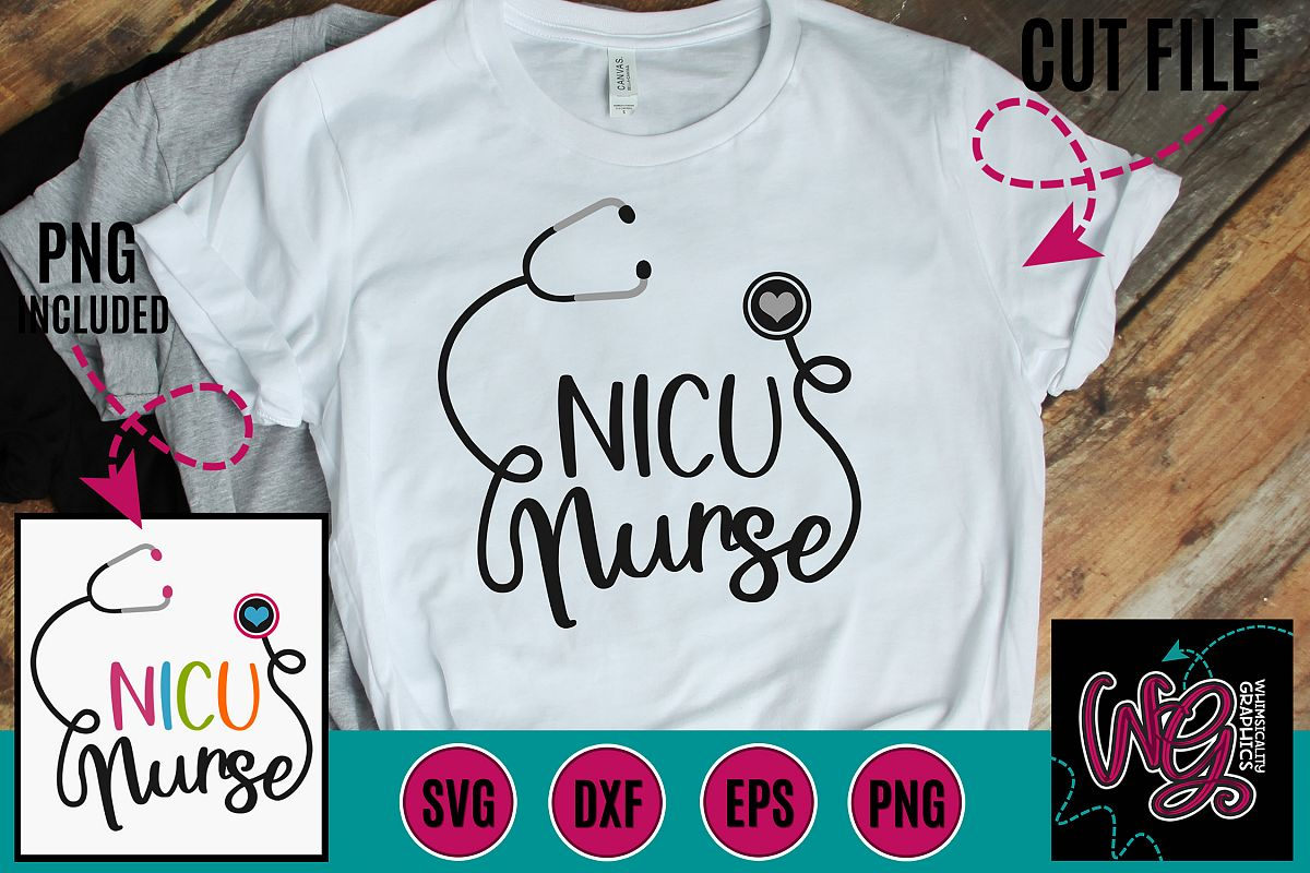 NICU Nurse SVG DXF PNG EPS example image 1