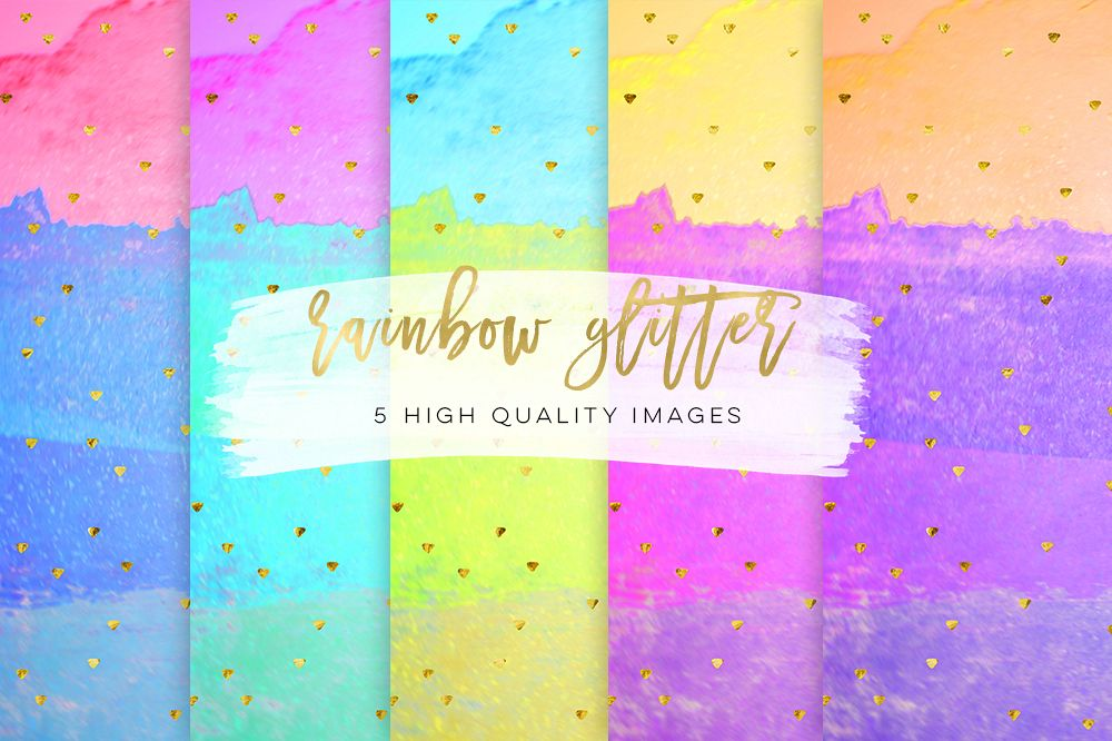 stripes color rainbow paper Digital Paper Planner Graphics Glitter Floral patterns, personal paper kit Festival Glitter, colorful glitter example image 1