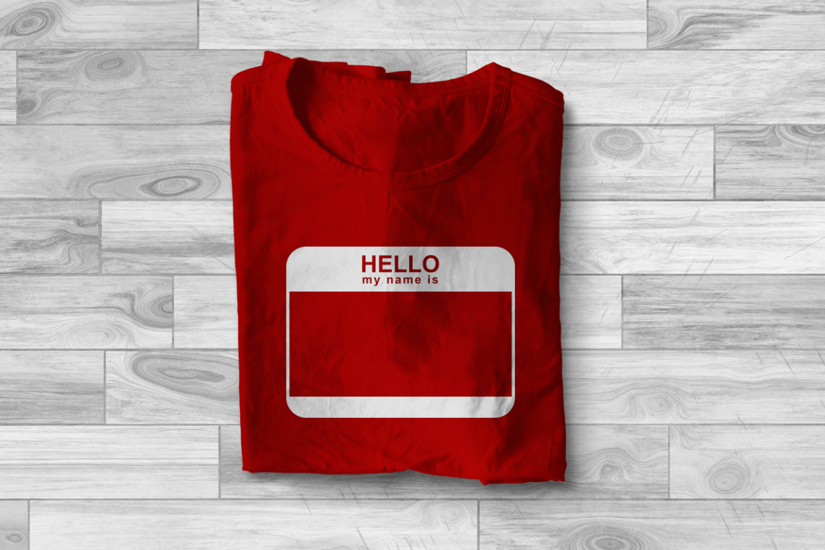 Hello My Name Is Name Tag Svg File Cutting Template