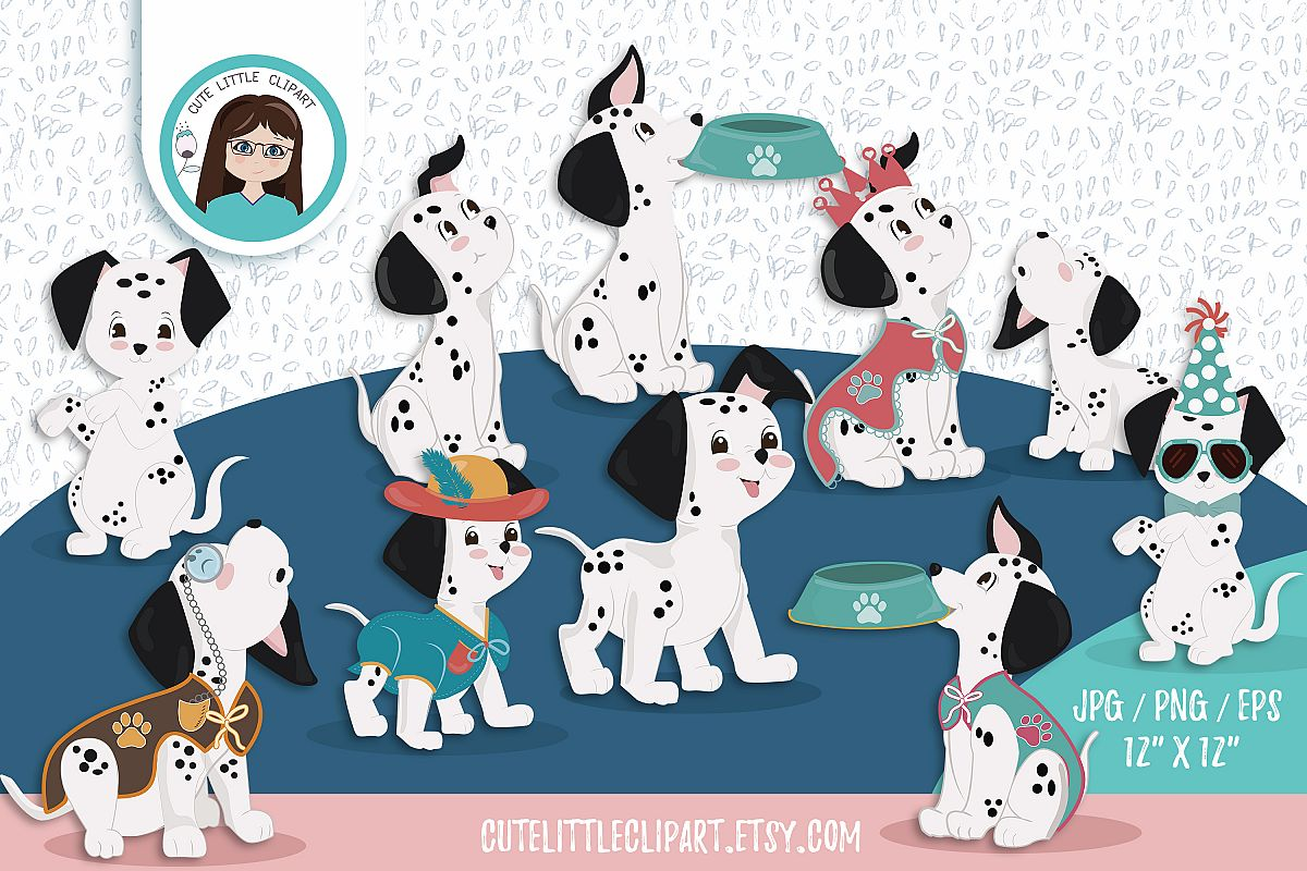 Dalmatians clipart example image 1