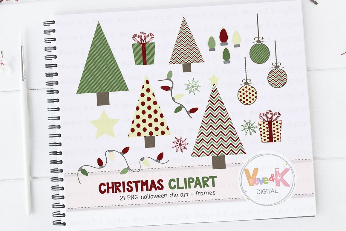 Cute Christmas Clip Art.Christmas Clipart Christmas Tree Clipart Cute Christmas Clipart Winter Card Overlays Snowflakes Clipart Holiday Clipart