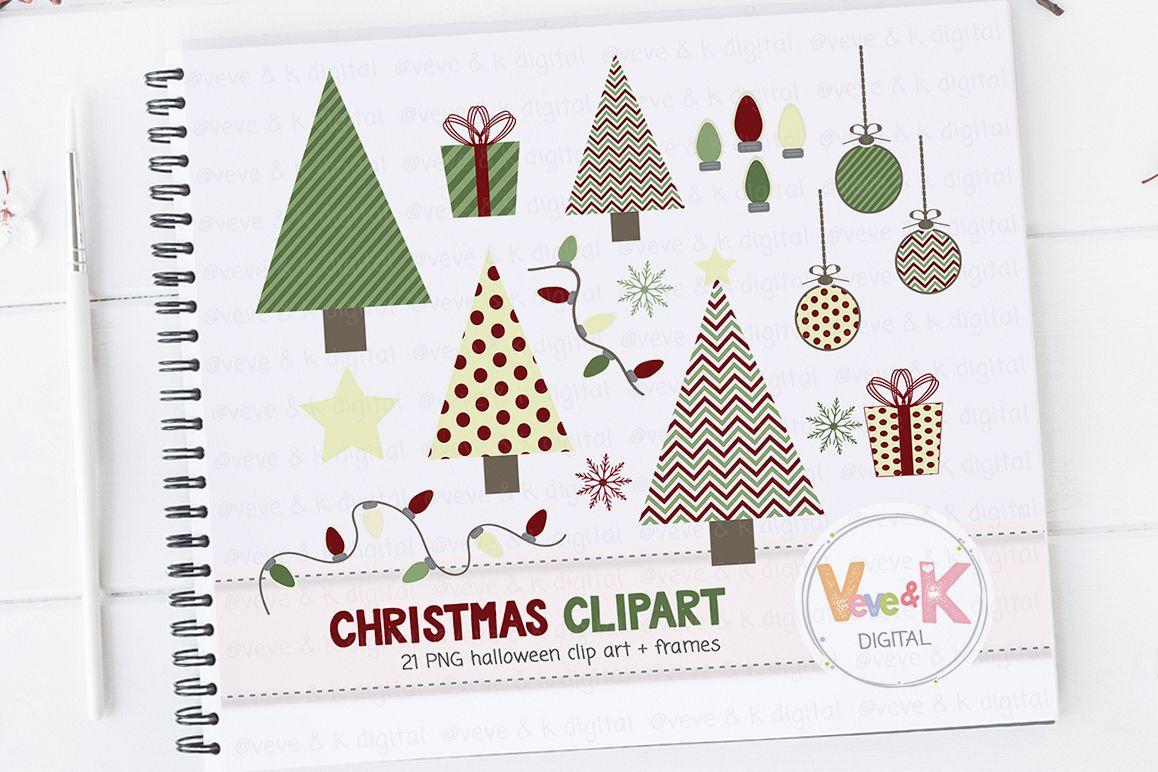 Christmas Clip Art Cute.Christmas Clipart Christmas Tree Clipart Cute Christmas Clipart Winter Card Overlays Snowflakes Clipart Holiday Clipart