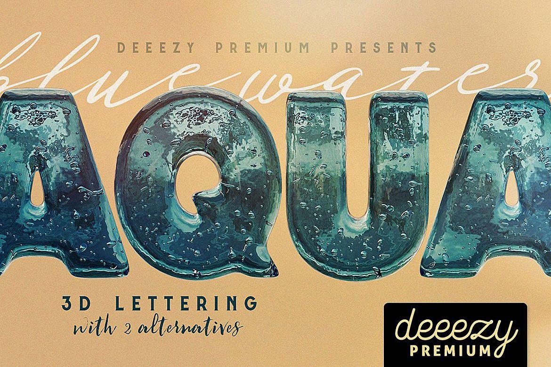 Aqua 3D Lettering example image 1