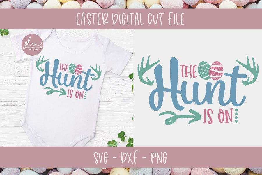 The Hunt Is On - Easter SVG Cut File example image 1