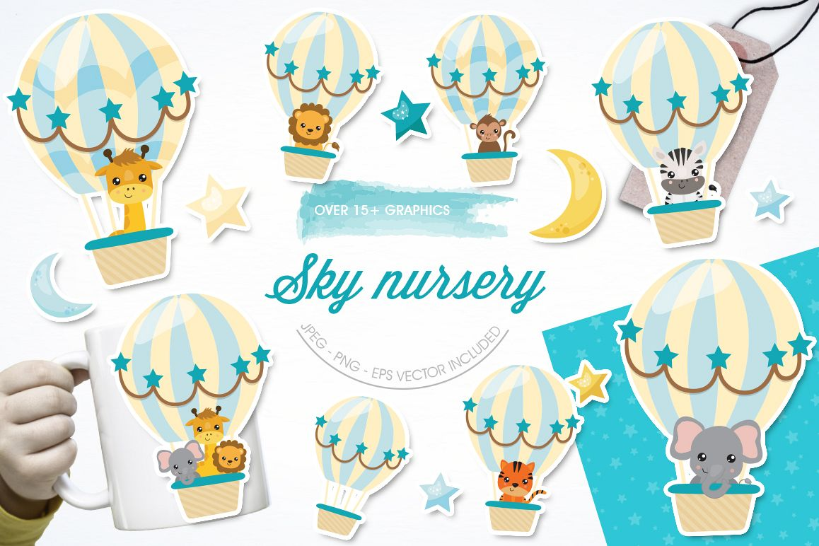 Sky Nursery graphic and illustrations example image 1