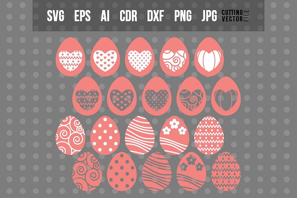 Easter Eggs - SVG Bundle example image 1