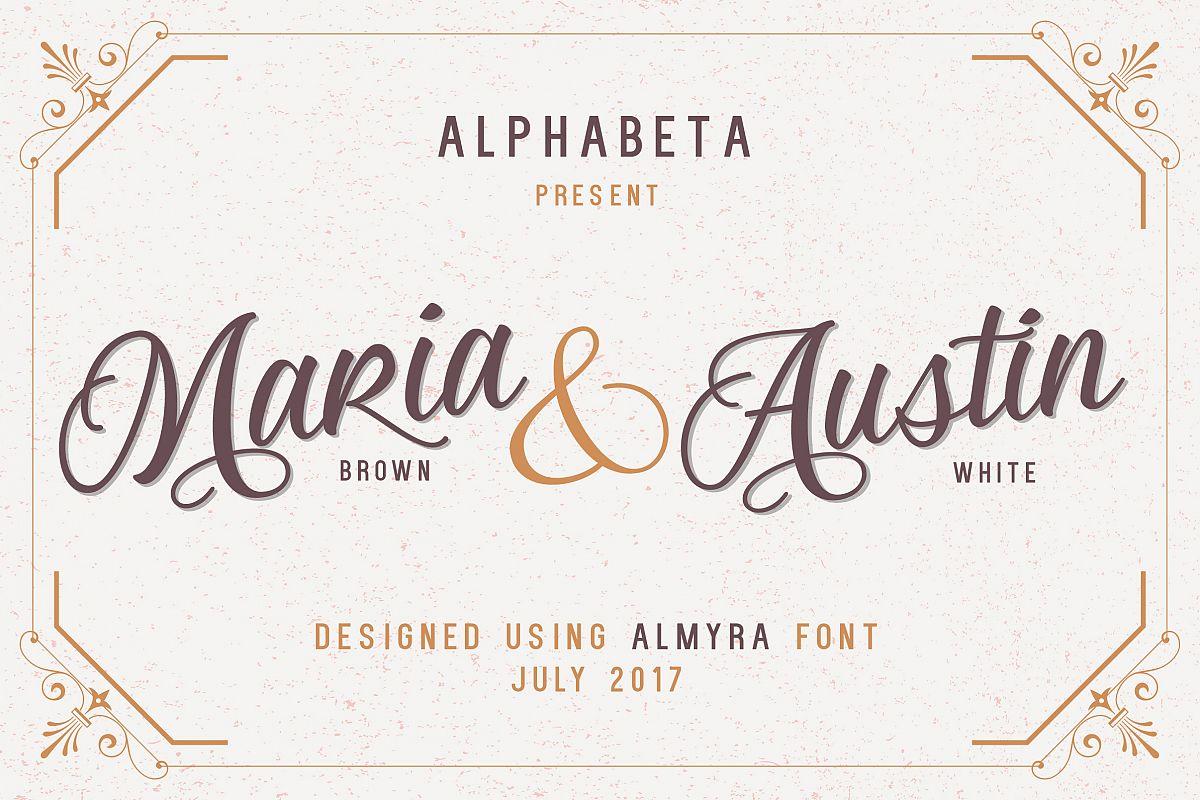 Almyra Script example image 1