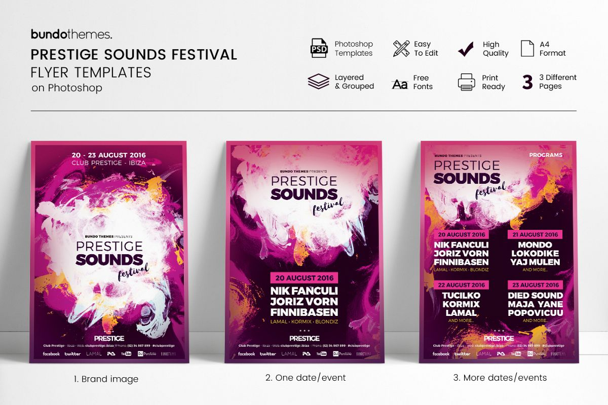 Prestige Sounds Festival Flyer Templates example image 1