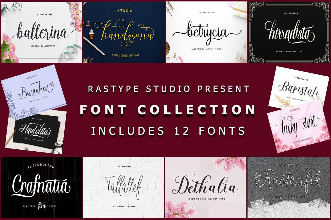 Font Collection | 12 Font example image 1