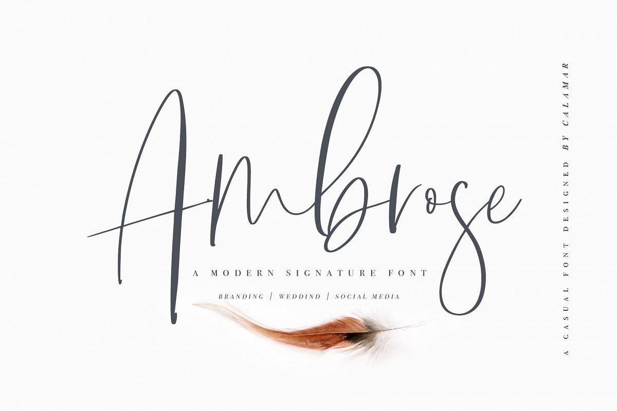 Ambrose Font example image 1