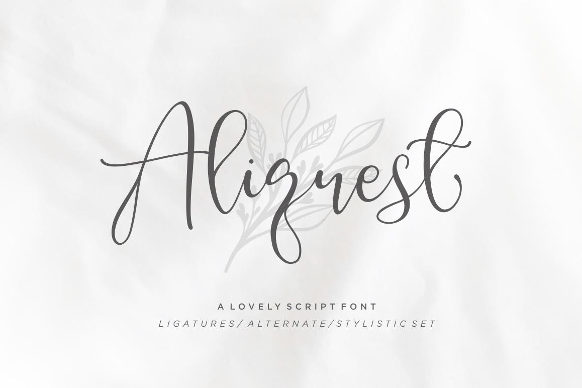 Aliquest Script Font example image 1