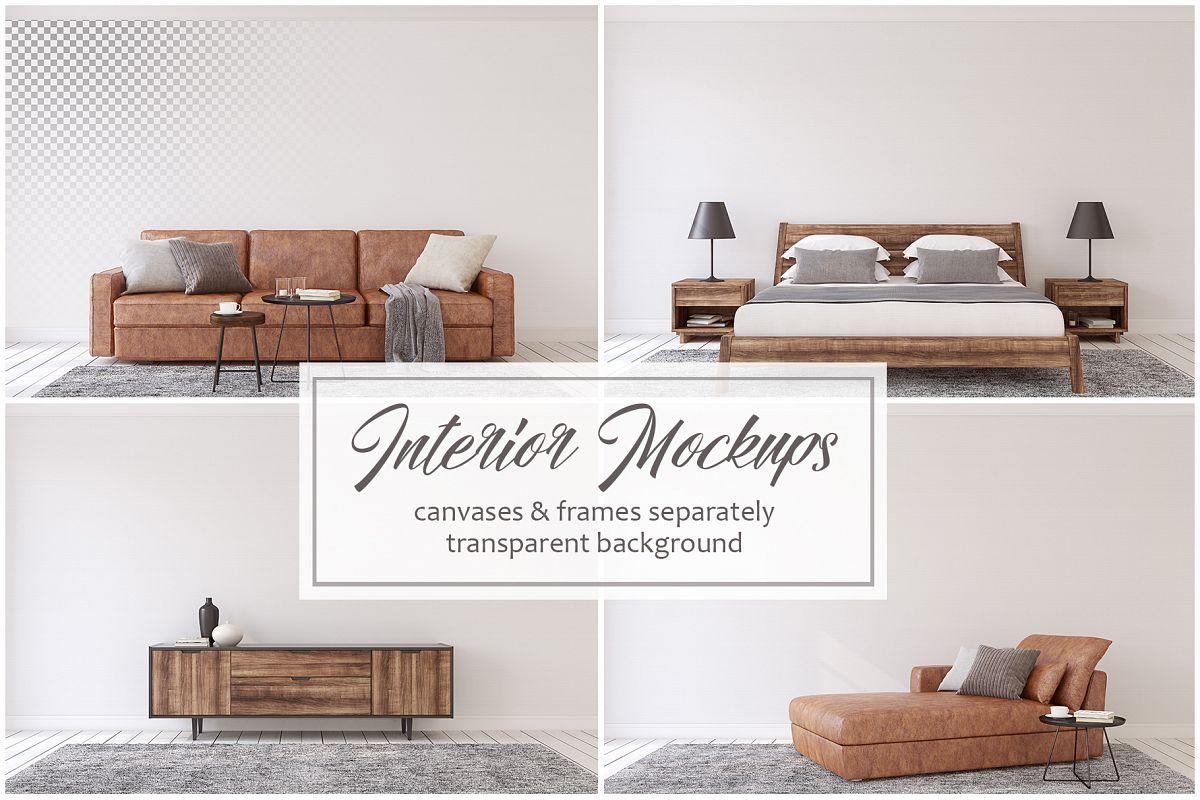 Men's Interior. Wall&Frames Mockup. example image 1