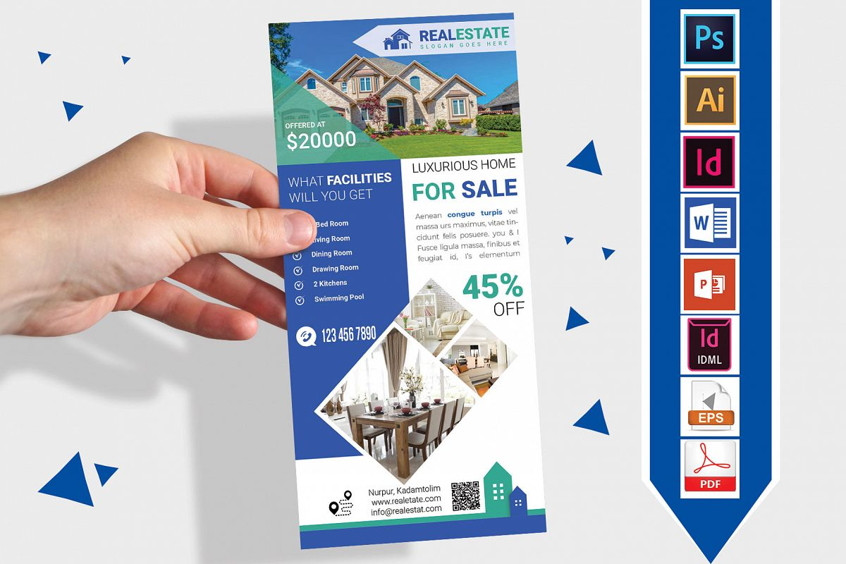 Rack Card | Real Estate DL Flyer Vol-03 example image 1